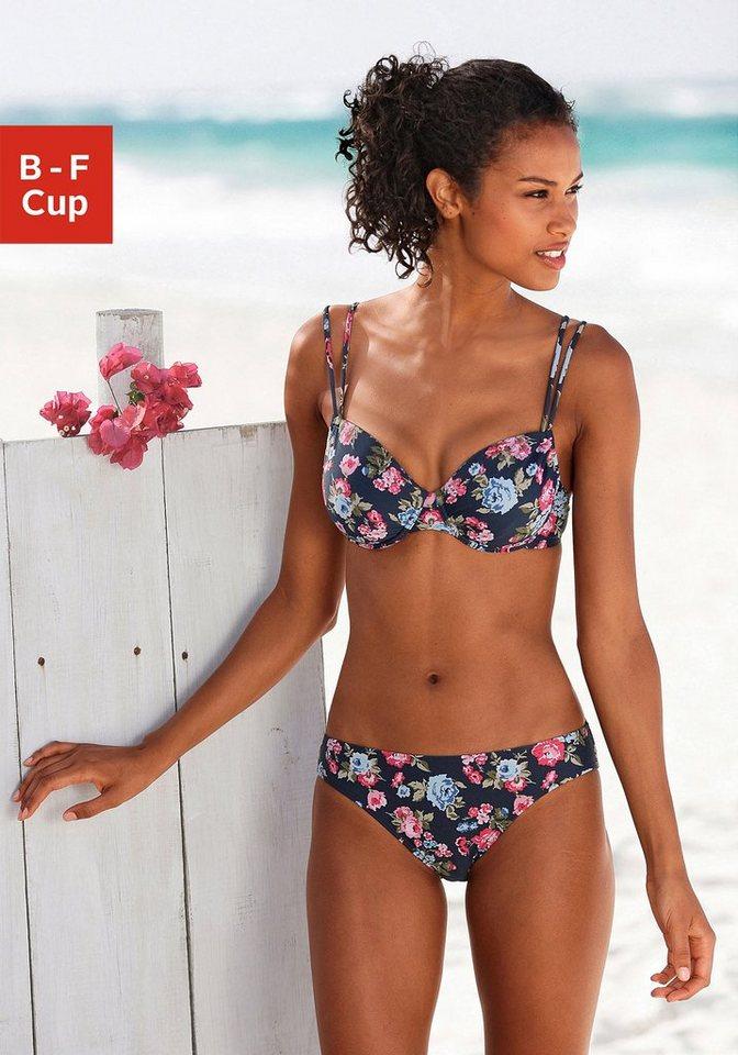 s.Oliver RED LABEL Beachwear Bügel-Bikini in marine bedruckt