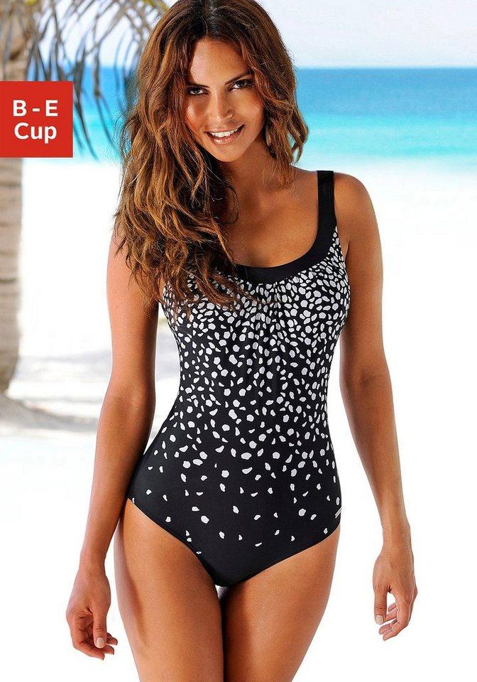 Bademode - LASCANA Badeanzug, im modischen Schwarz Weiß Design ›  - Onlineshop OTTO