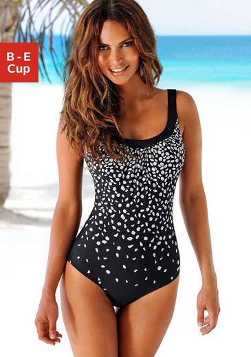 LASCANA Badeanzug, im modischen Schwarz-Weiß-Design