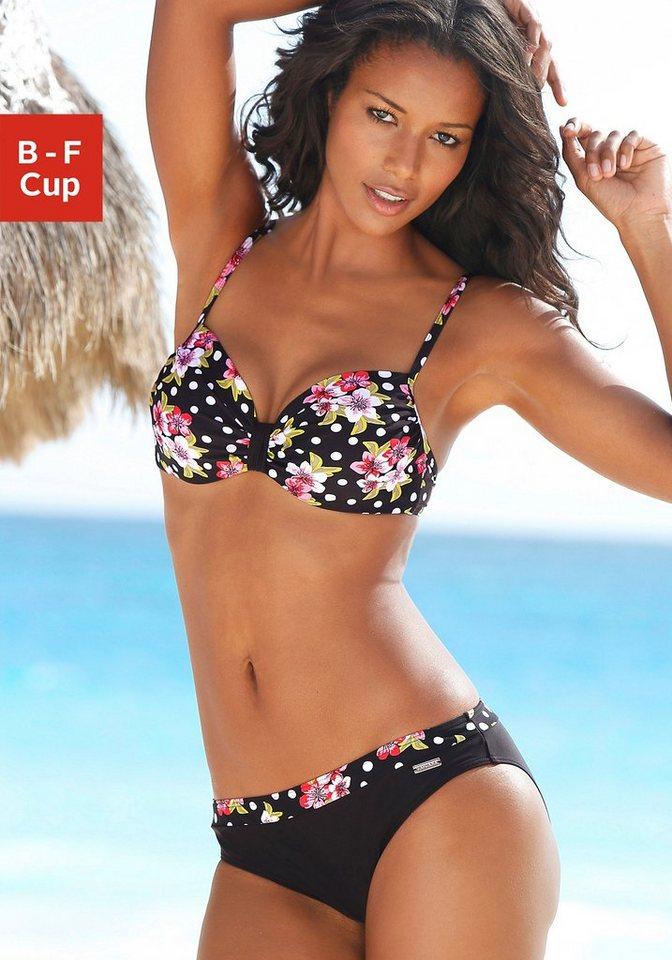Bügel-Bikini, LASCANA in schwarz bedruckt