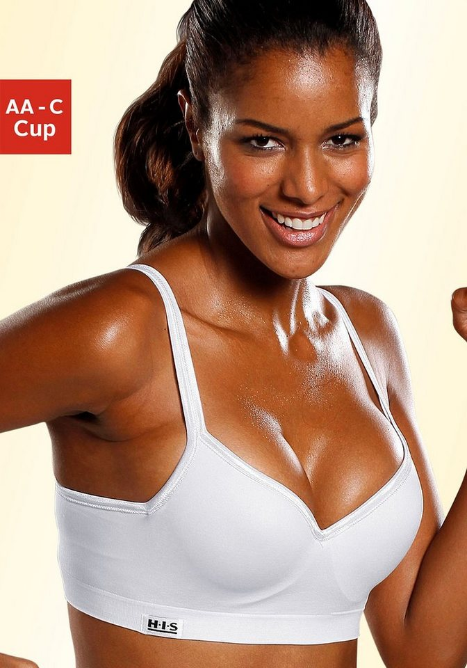 H.I.S. Sport-Push-up-BH für ein tolles Dekolleté in weiß
