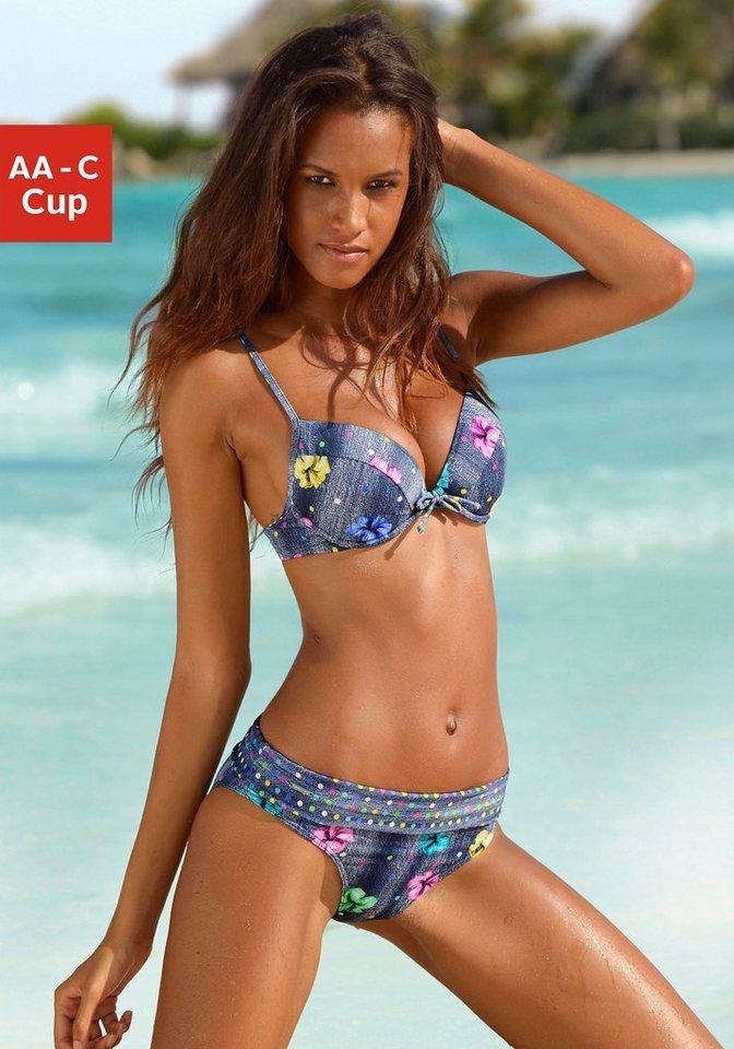 Push-up-Bikini, Bruno Banani in Jeans-Optik