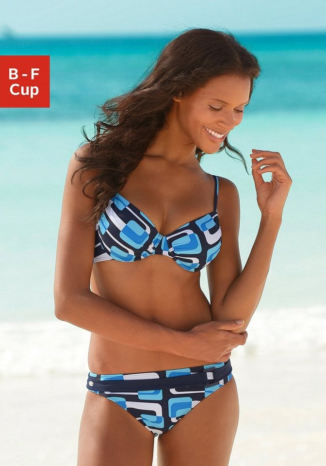 Bademode - KangaROOS Bügel Bikini im Retro Design › blau  - Onlineshop OTTO