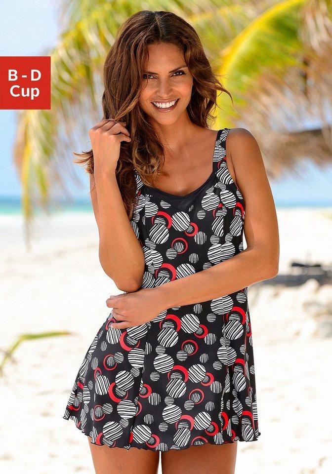 Badeanzug-Kleid, LASCANA in schwarz bedruckt
