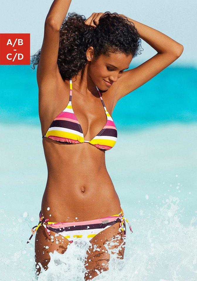 Bademode - Buffalo Triangel Bikini im Streifendesign › bunt  - Onlineshop OTTO