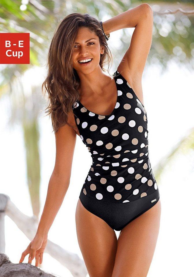 Bademode - LASCANA Badeanzug, im schönen Punkte Design › schwarz  - Onlineshop OTTO