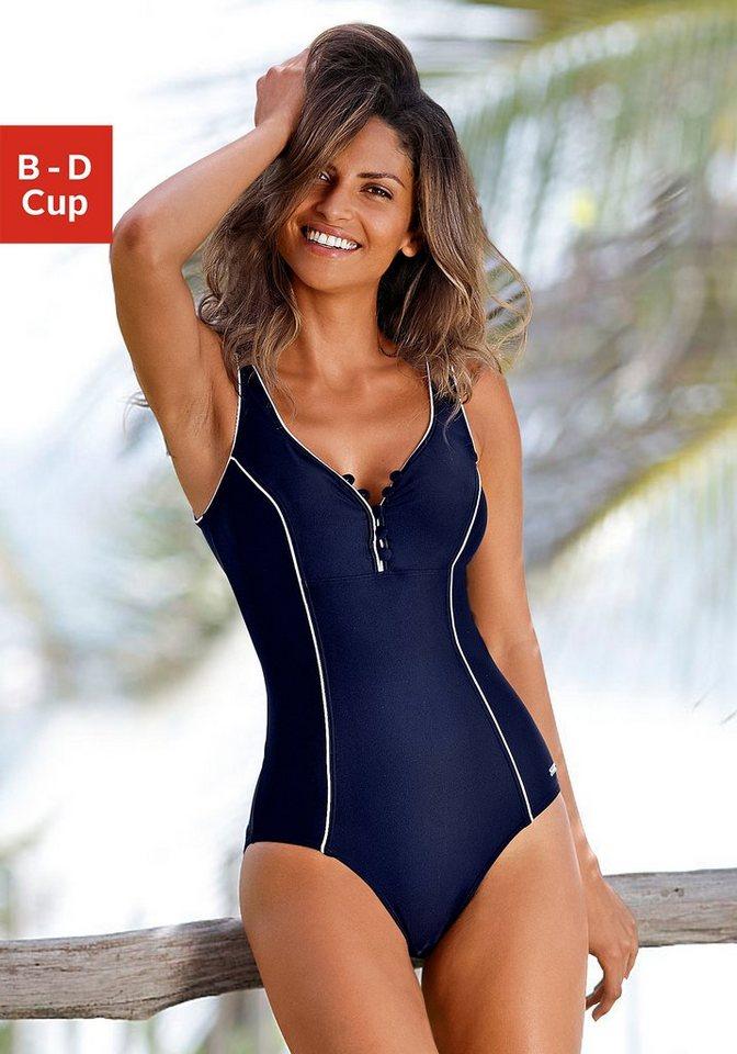 Bestbewertet authentisch am besten online online zum Verkauf LASCANA Badeanzug, mit Knöpfen am Ausschnitt | OTTO