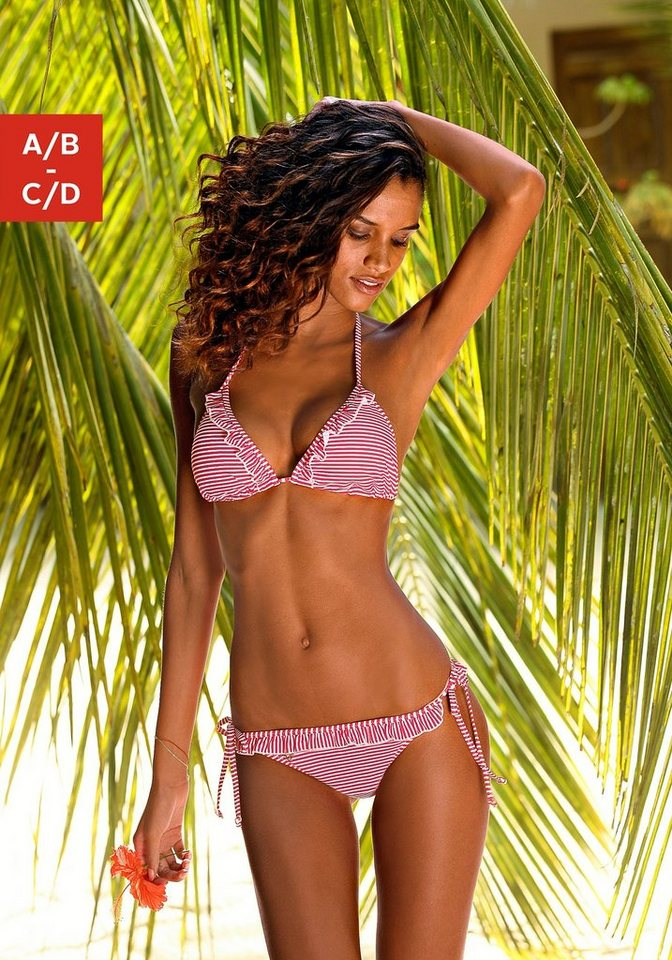 Triangel-Bikini, s.Oliver RED LABEL Beachwear in rot-weiß