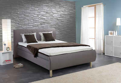 boxspringbett 140 200 grau. Black Bedroom Furniture Sets. Home Design Ideas