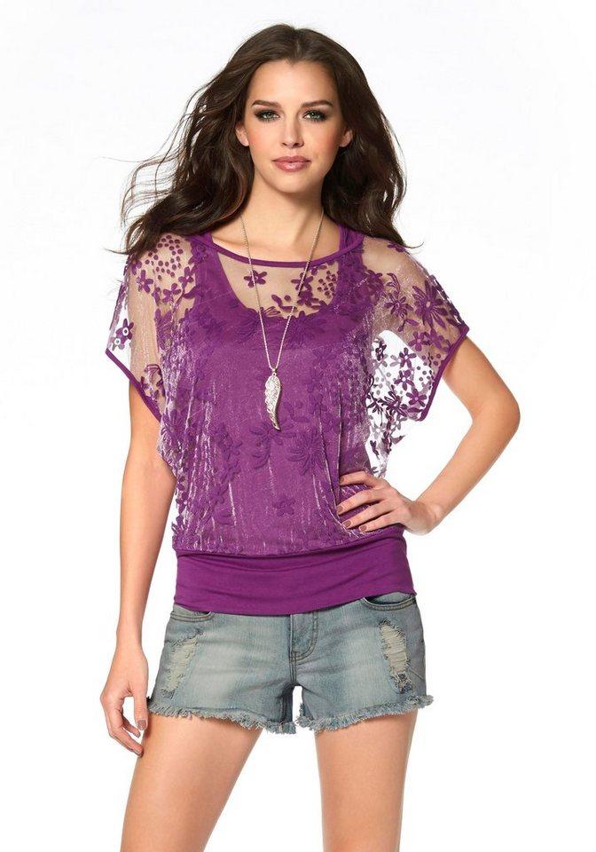Laura Scott 2-in-1-Shirt in fuchsia