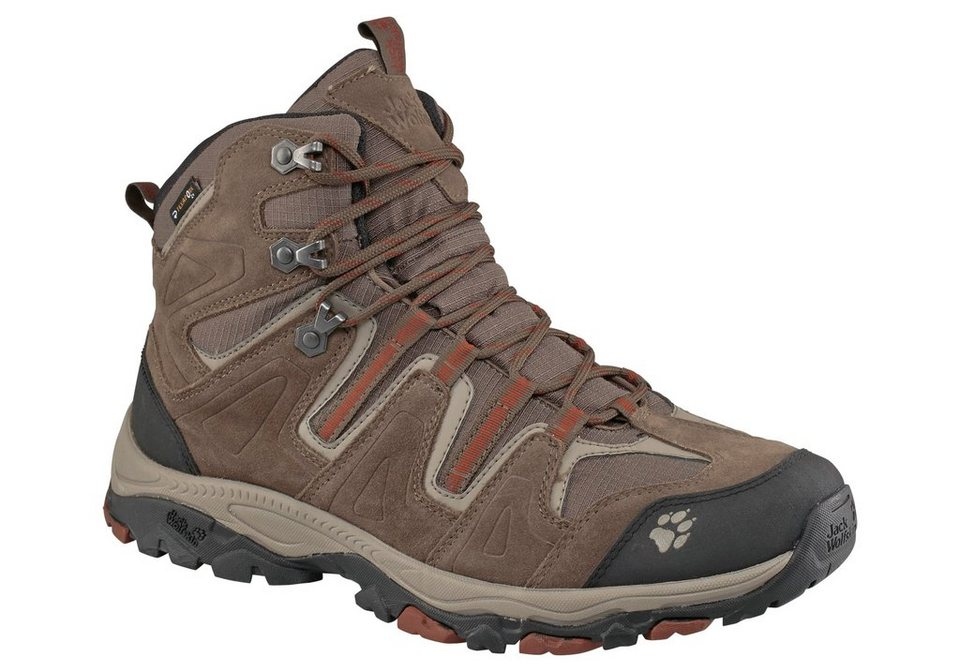 Jack Wolfskin Mountain Attack Mid Texapore Men Outdoorschuh in Braun-Rot