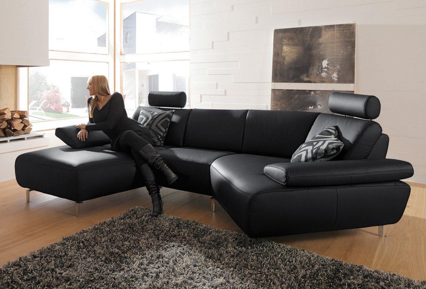 ADA premium Wohnlandschaft »Rooney«, wahlweise mit Schweberelax-Funktion | Wohnzimmer > Sofas & Couches > Wohnlandschaften | Schwarz | ADA premium