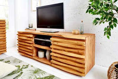 riess-ambiente Lowboard »RELIEF 150cm natur«, aus Massivholz
