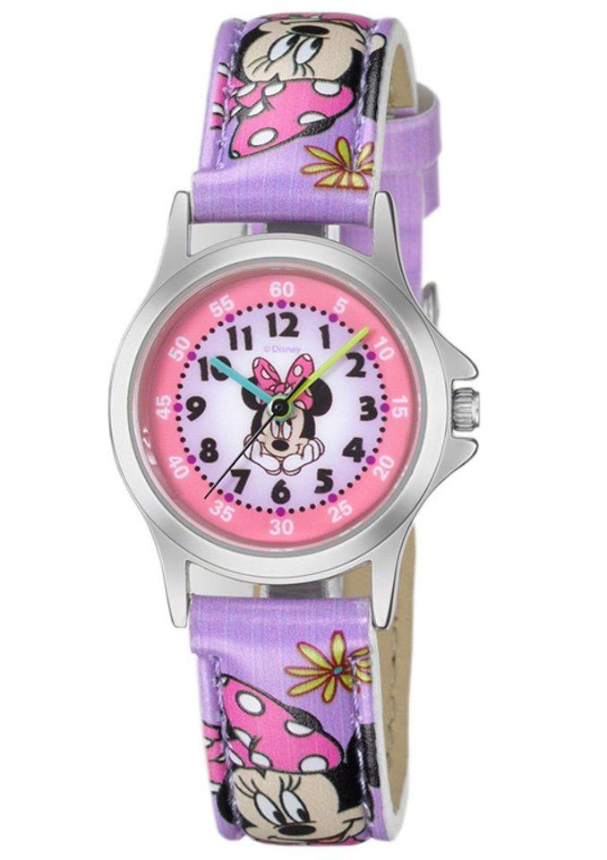 Armbanduhr, »Minnie Mouse«, Disney in lilafarben-bunt