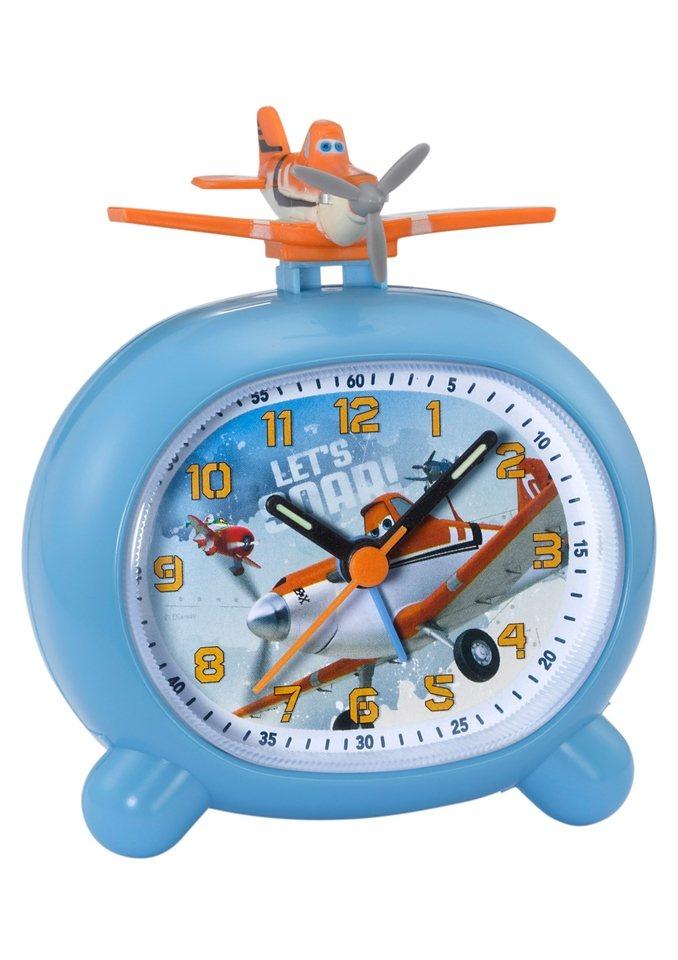 Wecker, »Planes 1«, Disney in hellblau-bunt