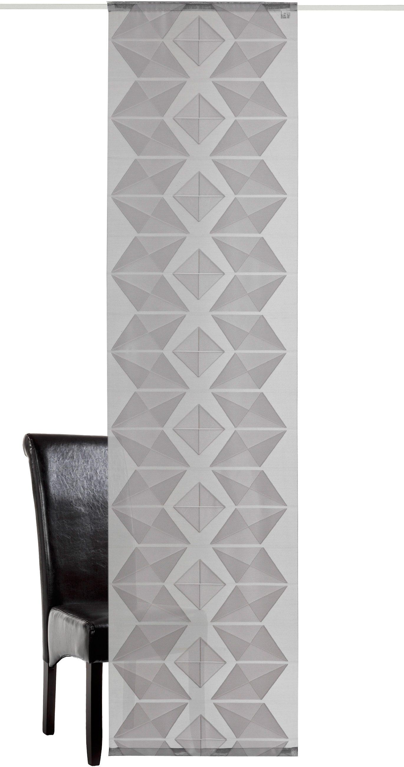 Schiebegardine, Deko Trends, »Prisma inkl. Zubehör«, mit Klettband (1 Stück)