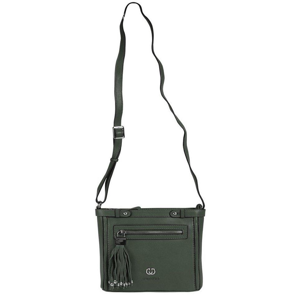 Gerry Weber Bibione Umhängetasche Leder 21 cm in dark green