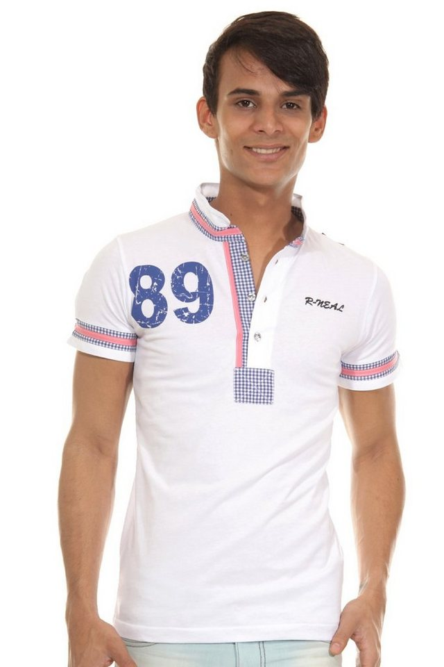 R-NEAL Poloshirt slim fit in weiss