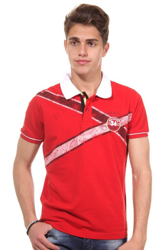 R-NEAL Poloshirt slim fit in rot