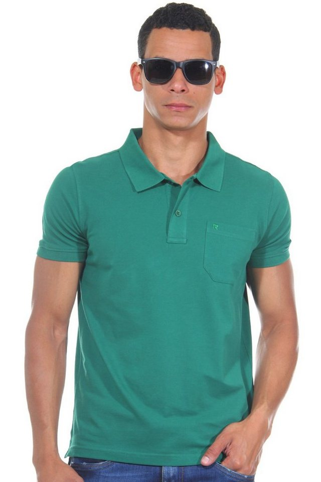 R-NEAL Poloshirt slim fit in grün