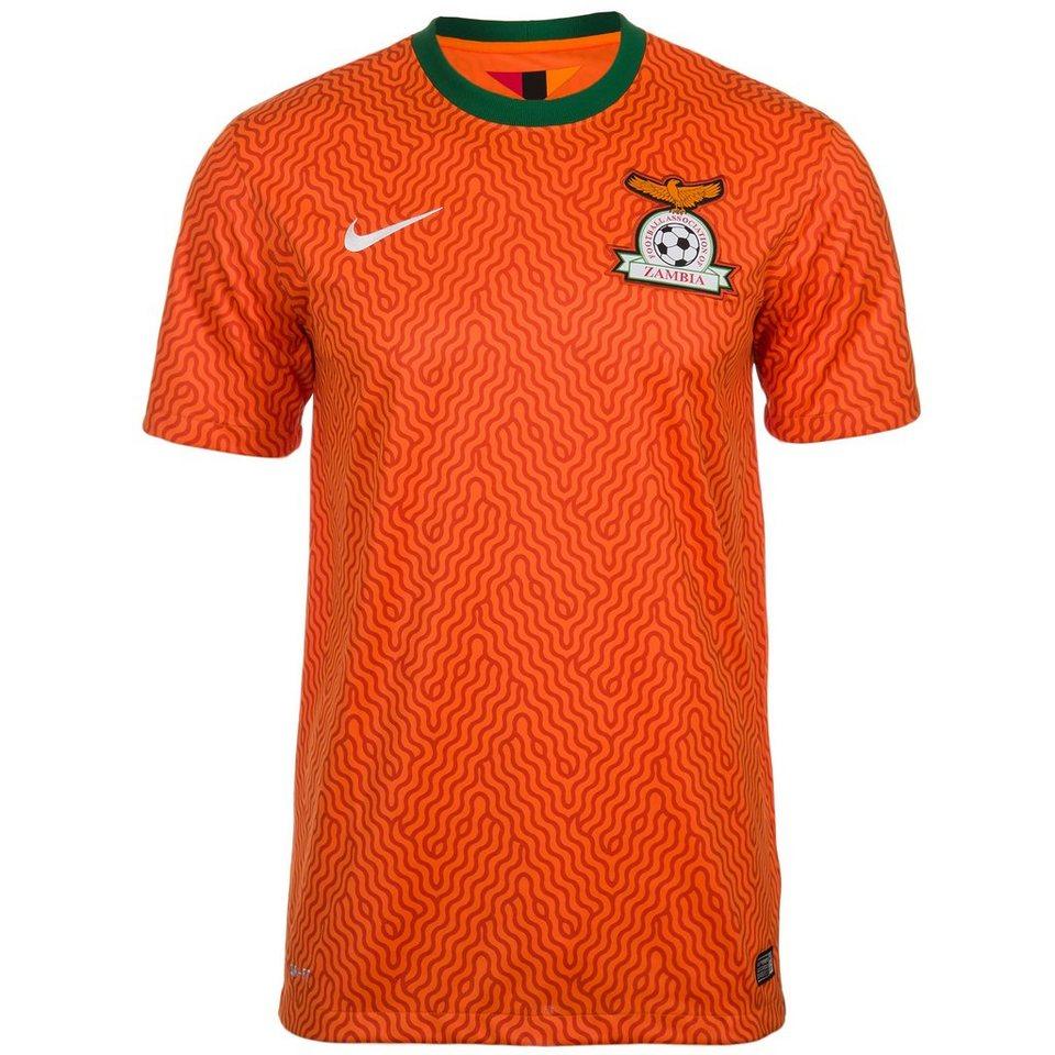 NIKE Sambia Trikot Away Stadium Herren 2014/2015 in orange / weiß
