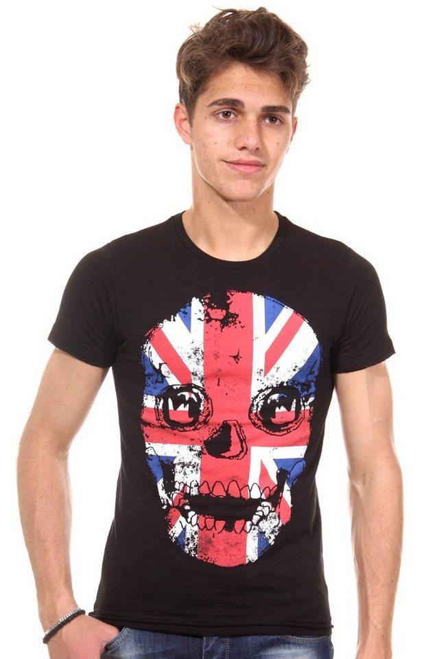 R-NEAL T-Shirt Rundhals slim fit in schwarz