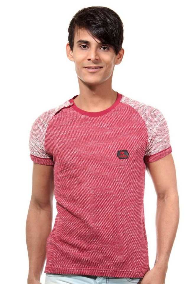 R-NEAL T-Shirt Rundhals slim fit in rot