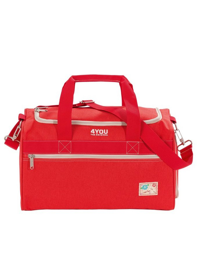 4YOU Sporttasche Just Red, »Sportbag M« in rot