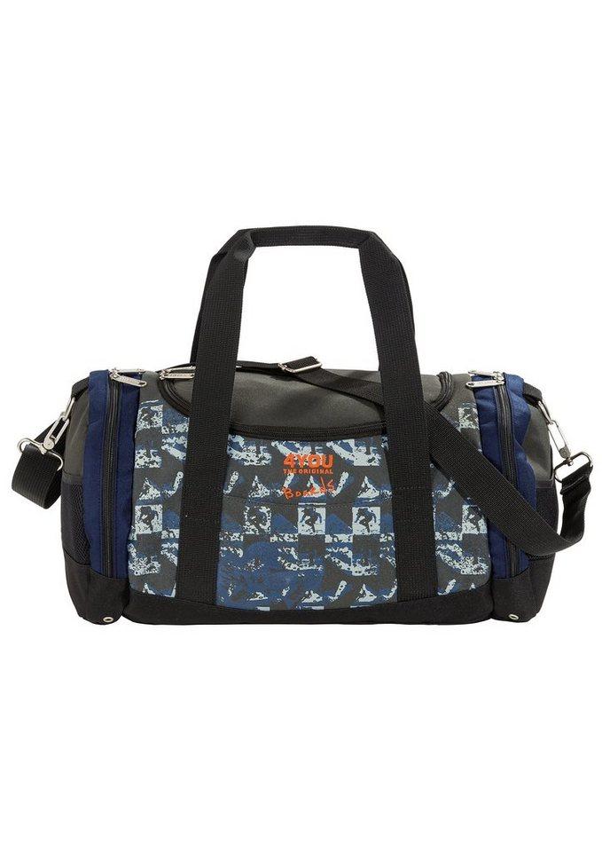 4YOU Sporttasche Boards, »Sportbag Function« in blau kariert