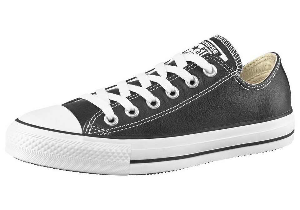 Converse Chuck Taylor All Star Basic Leather Ox Sneaker in Schwarz