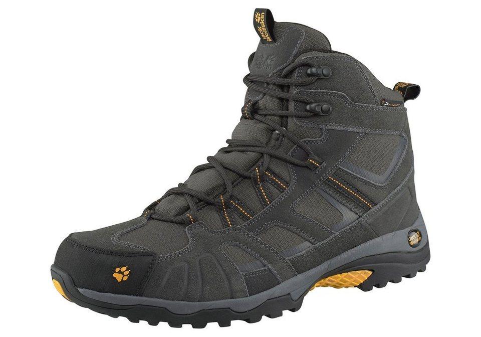 Jack Wolfskin »Vojo Hike Mid Texapore« Outdoorschuh in schwarz-gelb