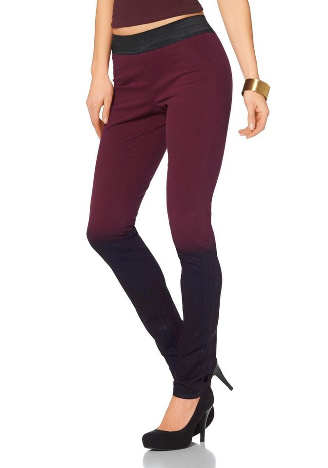 Laura Scott Leggings in Bordeaux-rot