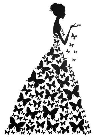 HOME AFFAIRE Sienos lipdukai »Schmetterlingsfrau«