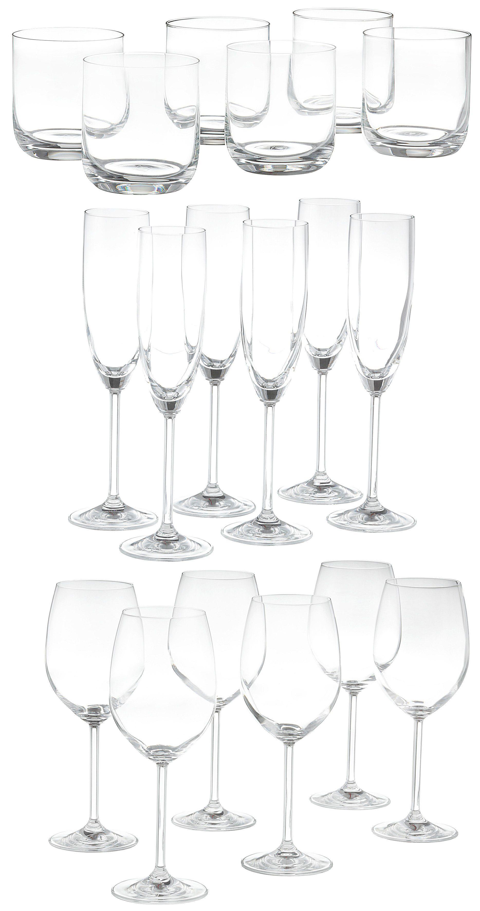 Gläser Set, Leonardo, »Sereno«, (18-tlg.)