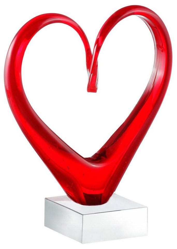 Skulptur, Leonardo, »Heart« in rot