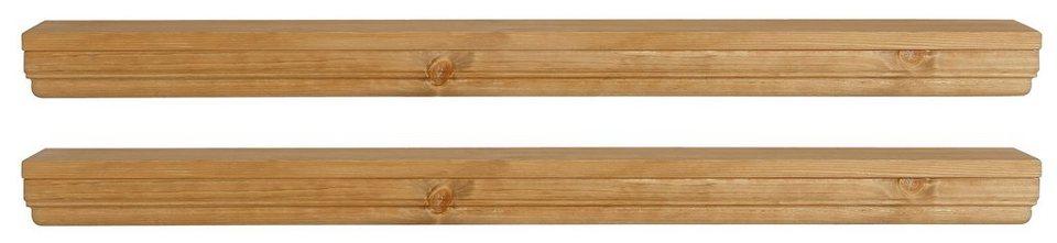 Wandboard, Home affaire, »Vilma«, Breite 89 cm, 2er Set in gelaugt geölt