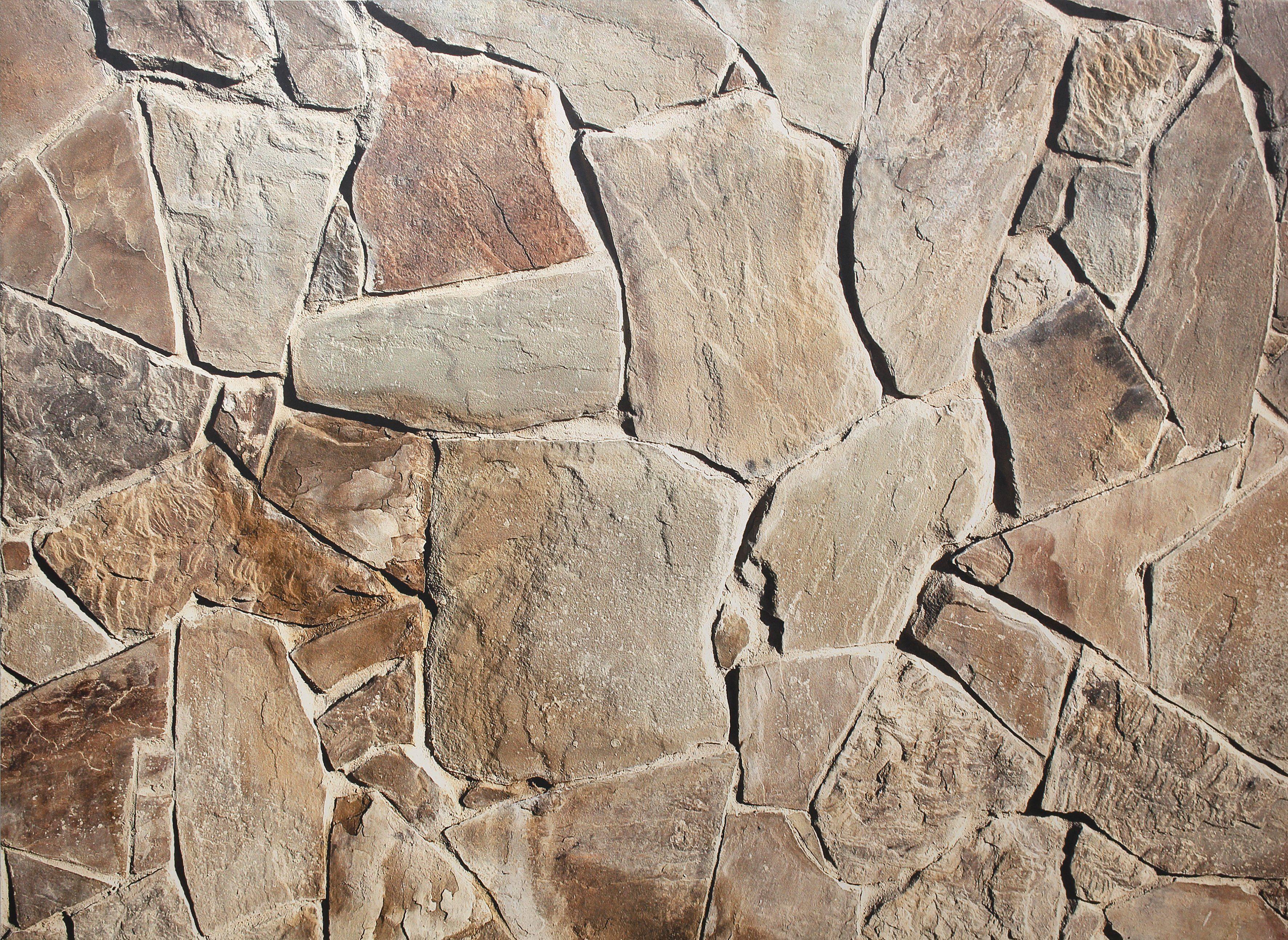 Home affaire Fototapete »Mediterrane Stein Mauer«, 350/250 cm