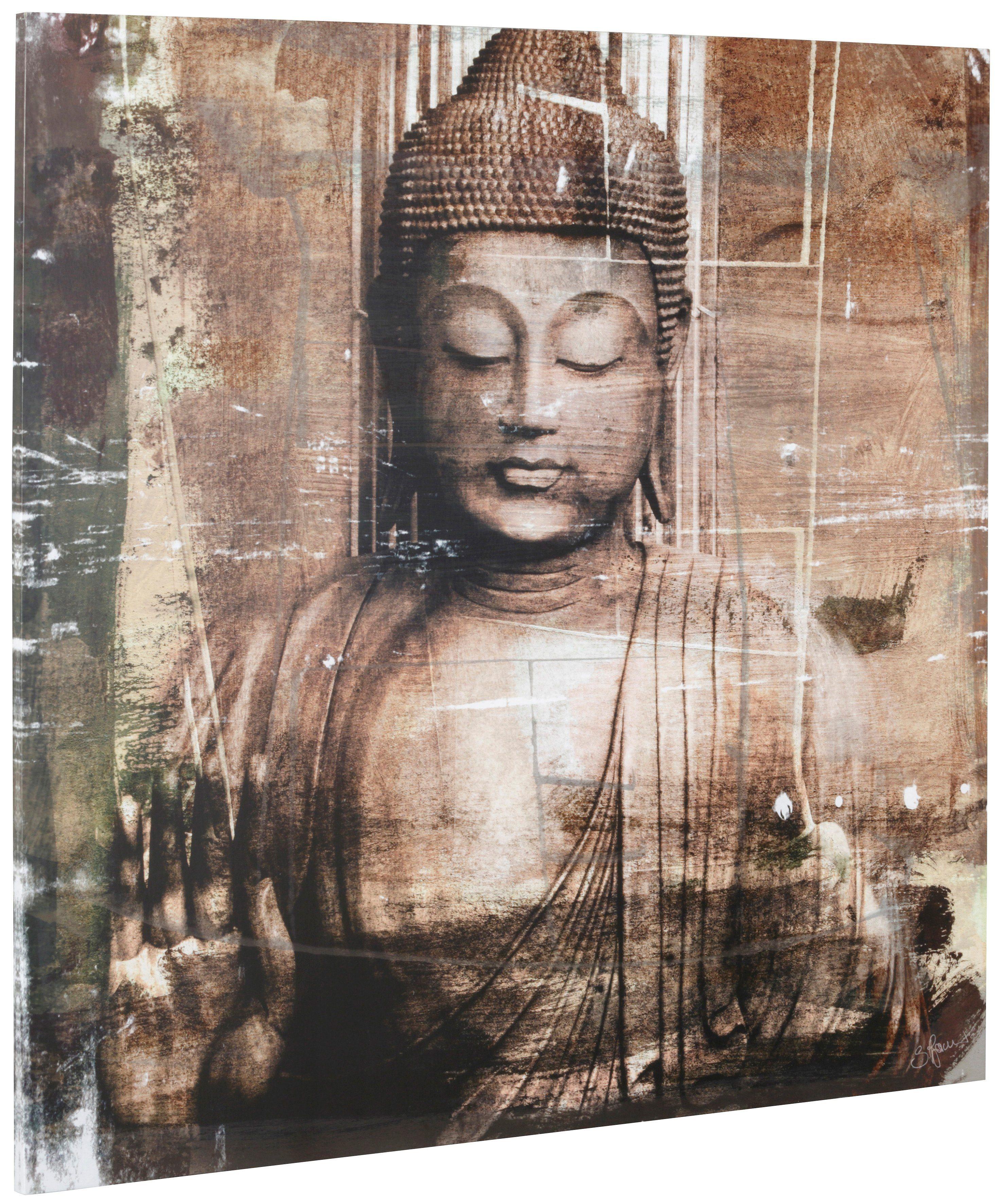 Bild, Home affaire, »Buddha III«, 90/90 cm