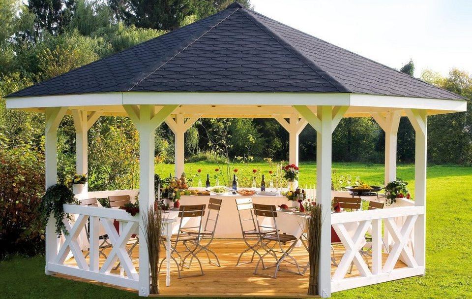 Holzpavillon »Nice Gr. 4«, BxT: 591x591 cm in natur