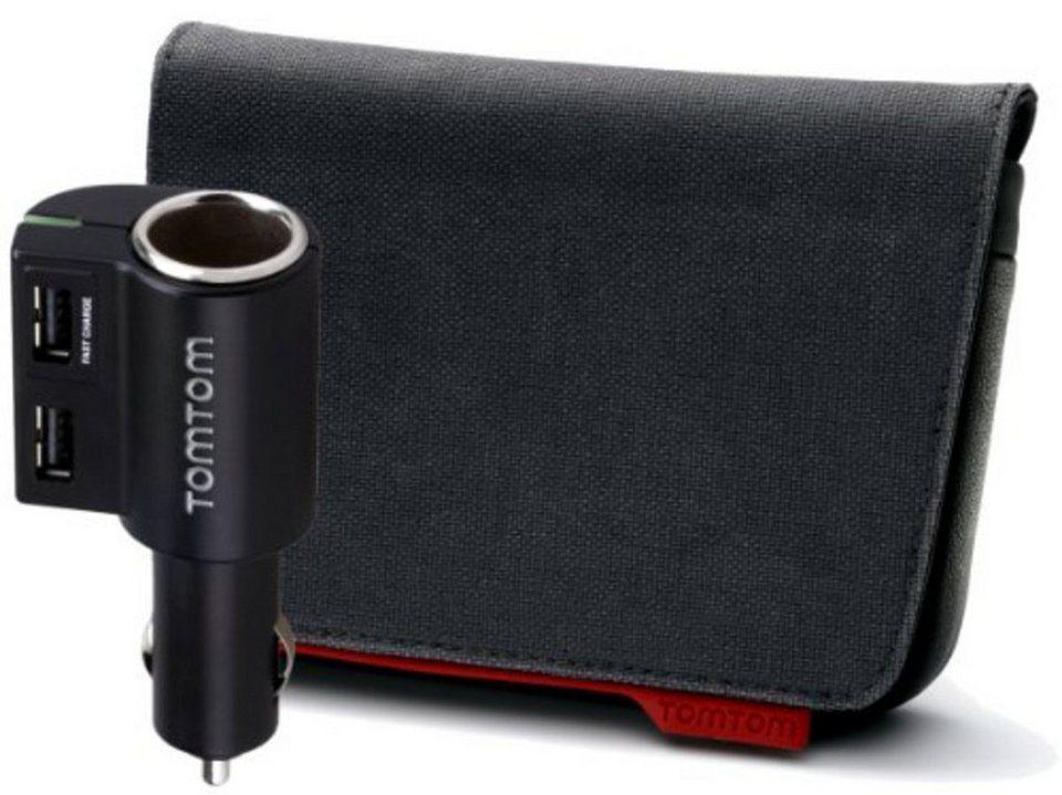 """TomTom Tasche »Premium Pack Tasche (4,3"""" & 5"""") + Multicharger« in Schwarz"""