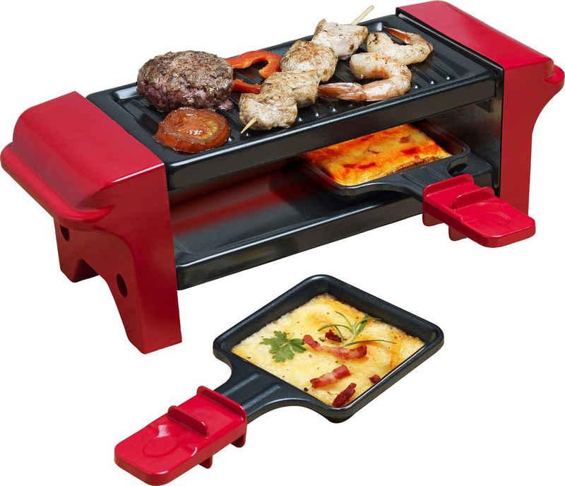 bestron Raclette AGR102, 2 Raclettepfännchen, 350 W, Antihaftbeschichtung