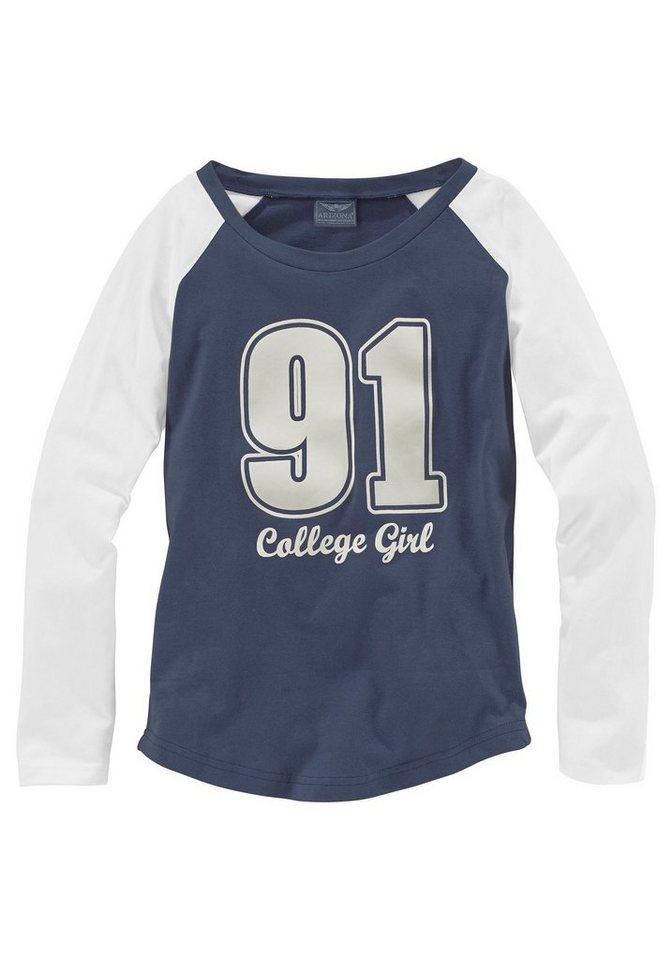 Arizona Shirt, für Mädchen in Blau-Natur