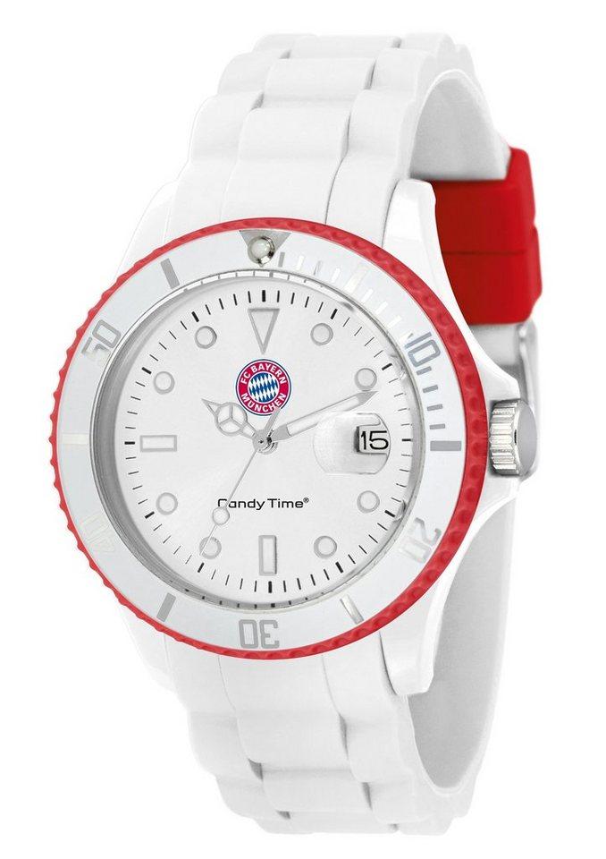 "FC Bayern, Armbanduhr, ""Candy Time, U4524-53/1"" in weiß"