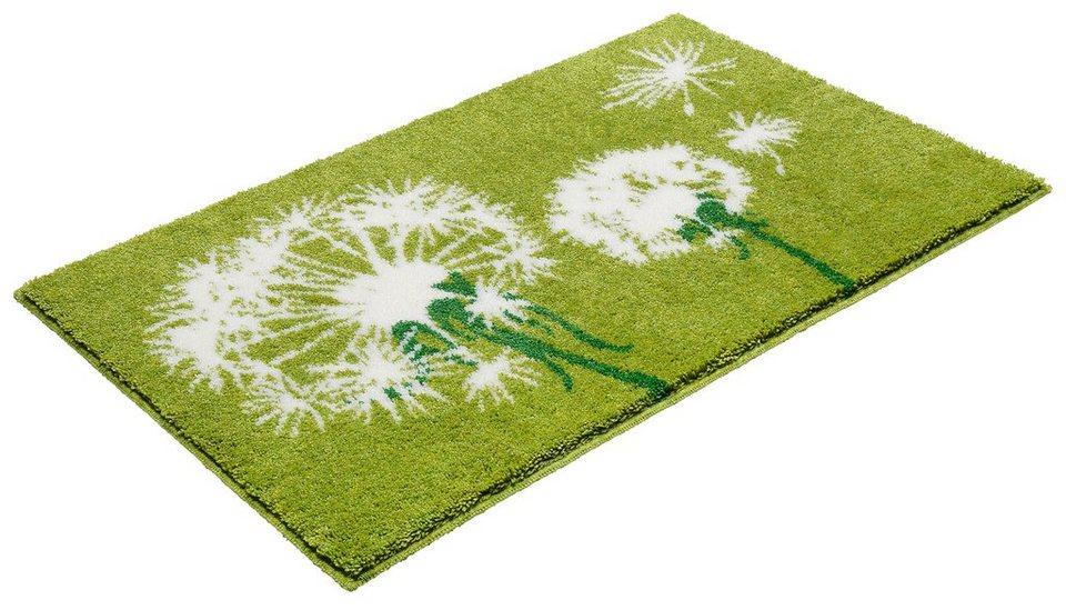 Badematte, Grund, »Pusteblume«, Höhe 20 mm, rutschhemmender Rücken in grün