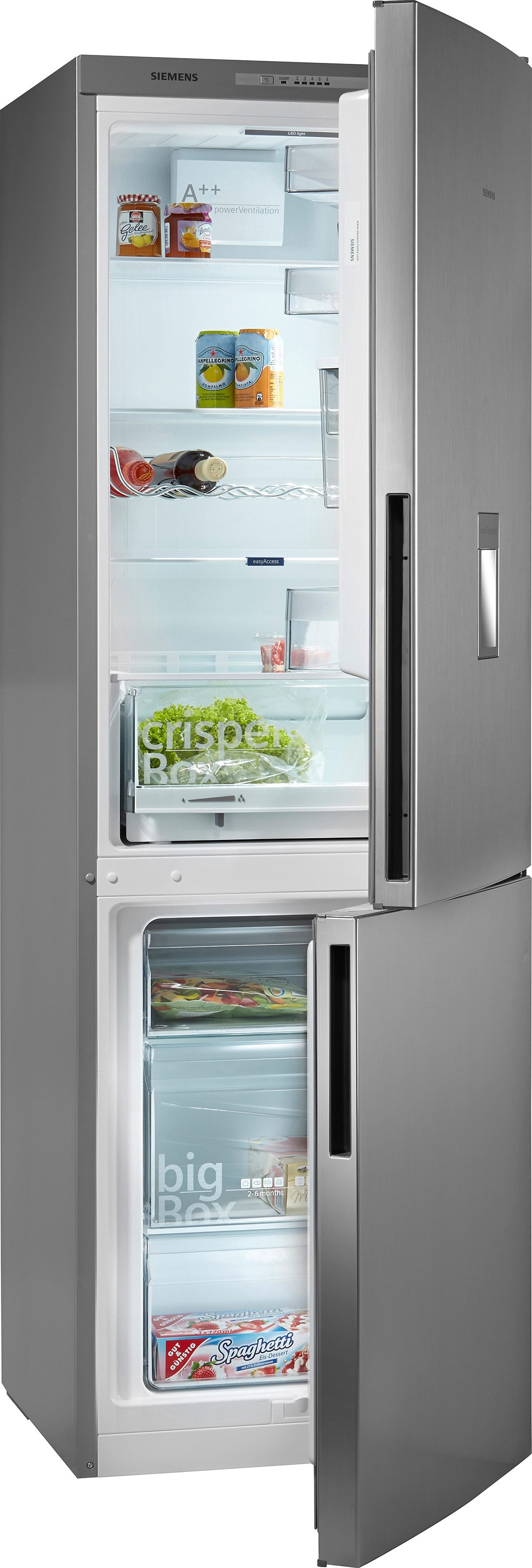 Siemens Kühl-Gefrierkombination KG36WXL30S, A++, 186 cm hoch, mit Wasserspender