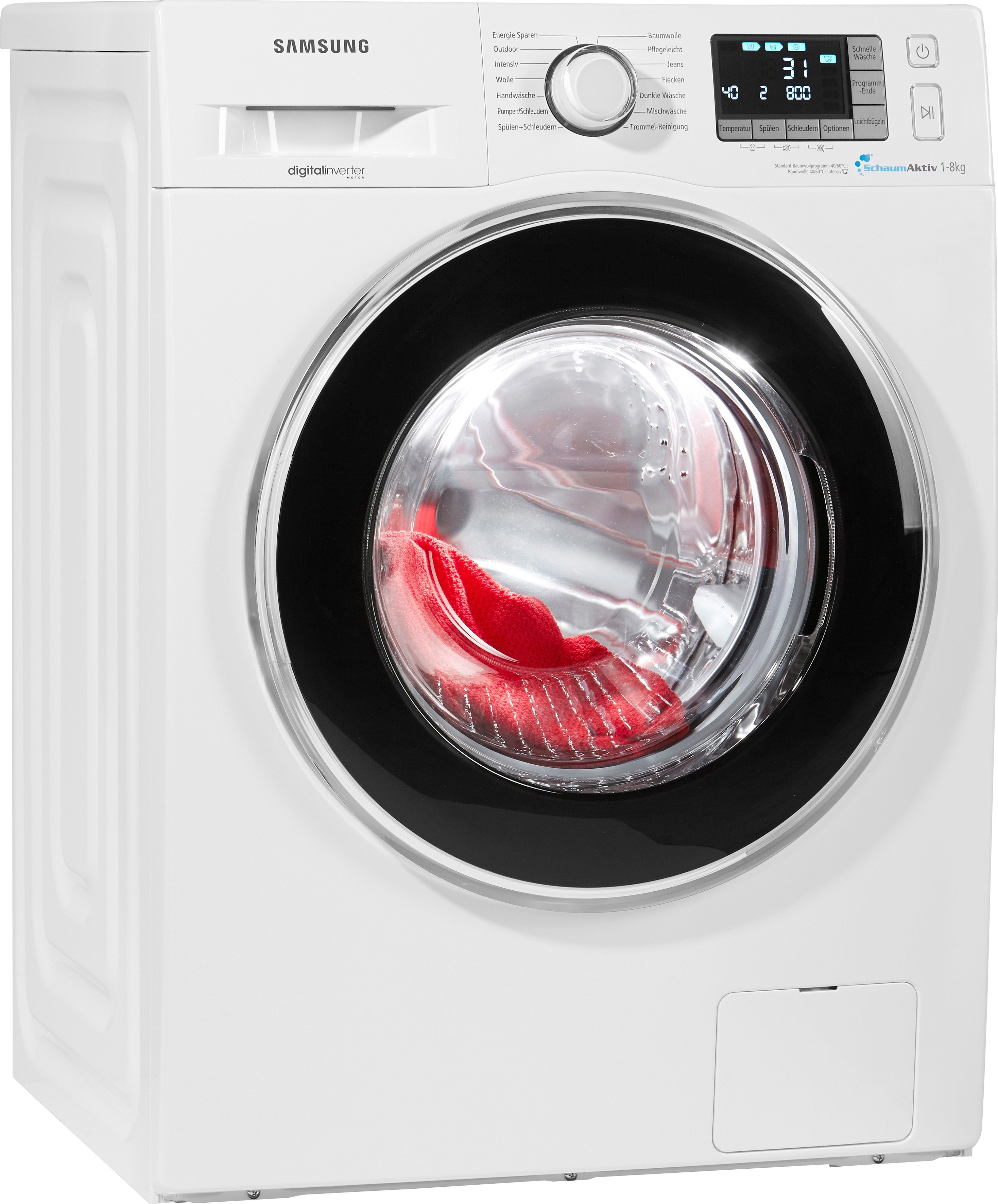 Samsung Waschmaschine WF80F5EBP4W/EG, A+++, 8 kg, 1400 U/Min