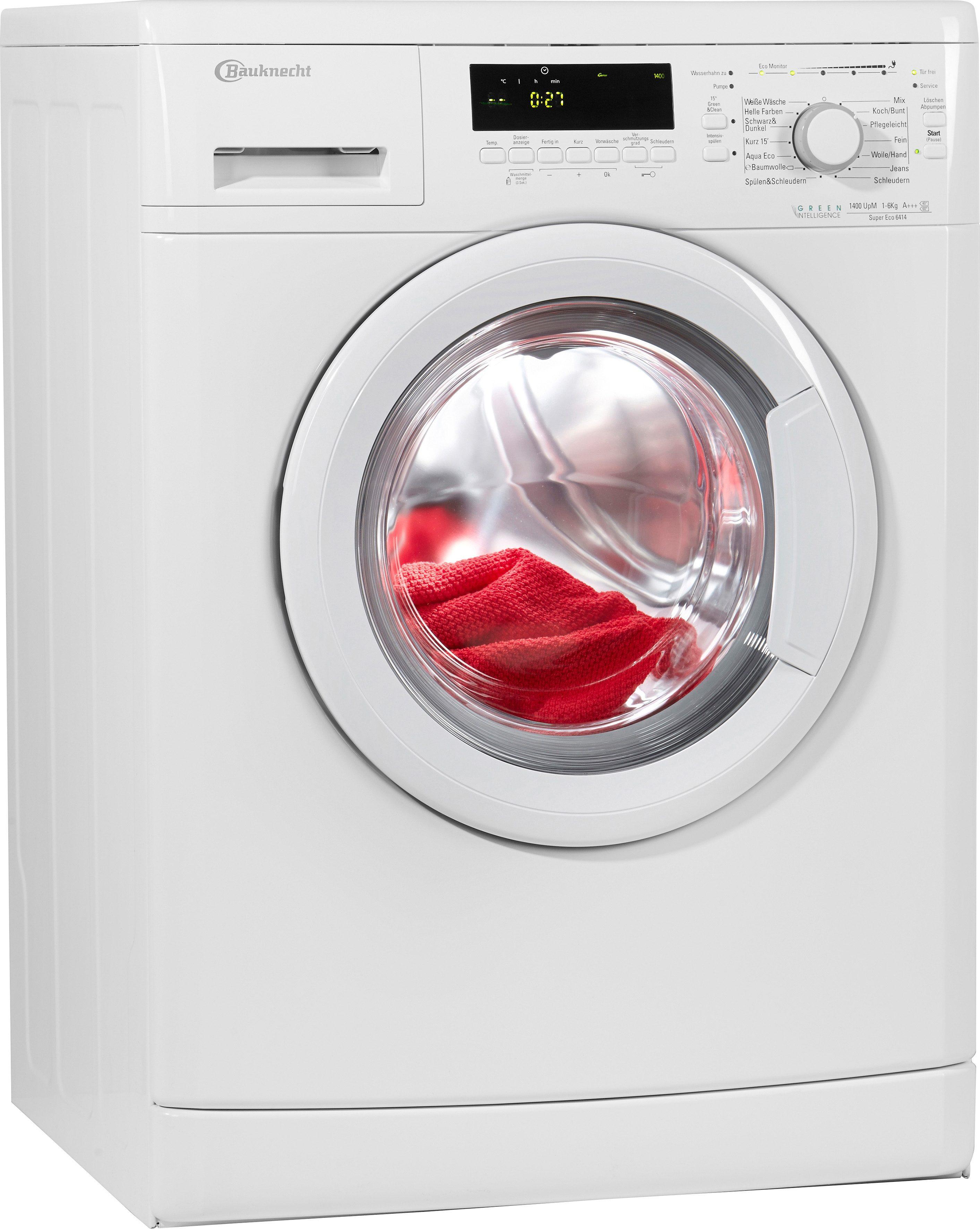 BAUKNECHT Waschmaschine Super Eco 6414, A+++, 6 kg, 1400 U/Min