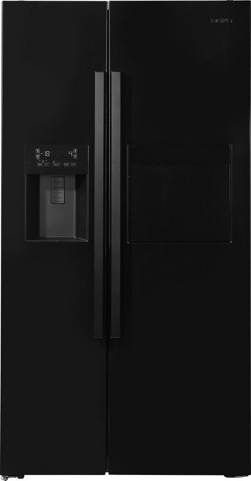 Beko Side by Side GN 162430 X/P, A++, 179 cm hoch, NoFrost in Piano black