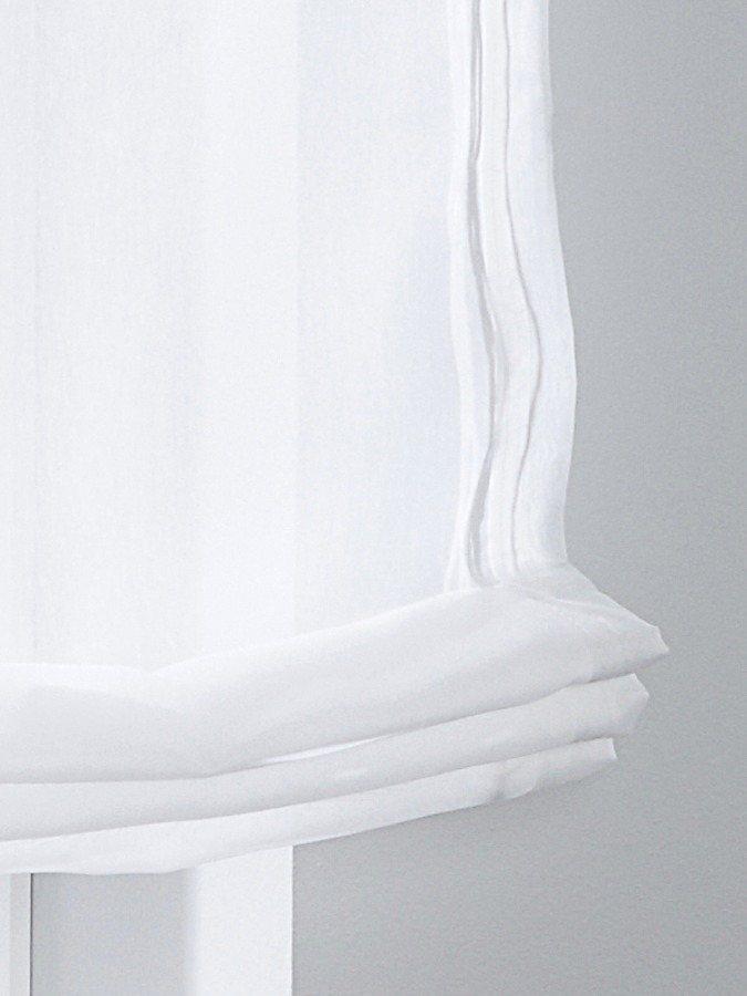 Raffrollo in weiß