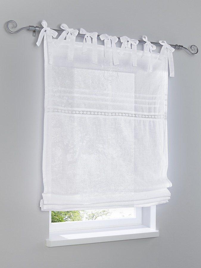heine home Raffrollo in weiß